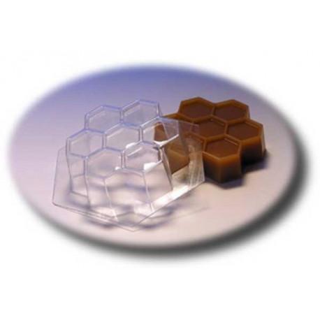Пчелиные соты, пластиковая форма для мыла МФ
