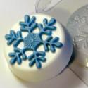 Снежинка, пластиковая форма для мыла
