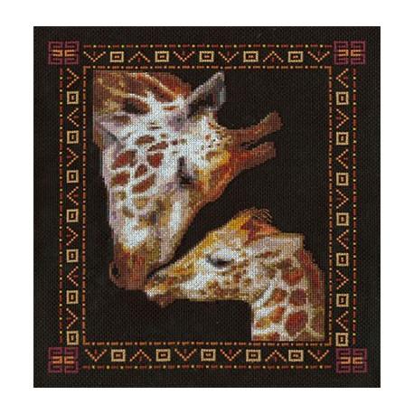 Ласка, набор для вышивания крестиком, 25х29см, 25цветов Panna