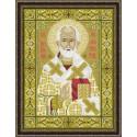 Николай Чудотворец, набор для вышивания крестиком, 29х39см, мулине хлопок+шерсть 18цветов Риолис