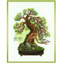 Пожелание долголетия, набор для вышивания крестиком 35х45см нитки шерсть Safil 13цветов Риолис