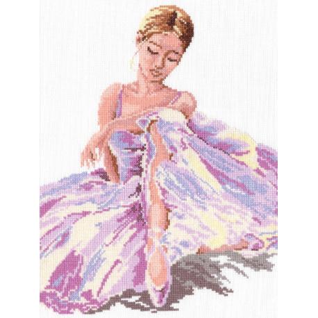 Балерина, набор для вышивания крестом 24х30см мулине хлопок 15цв. канва Aida№14 ЧИ