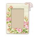 Рамка для фотографии Розочки, набор для вышивания крестиком, 15х21см, нитки шерсть Safil 9цветов