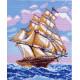 На всех парусах, канва с рисунком для вышивки нитками 28х37см. Матрёнин посад