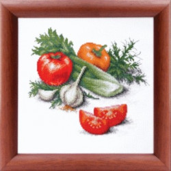 Овощной микс, набор д/вышивания крестом и бисером Чарiвна Мить 25х25см