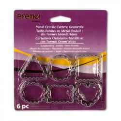 Набор формочек металлических для работы с полимерным пластиком, упаковка 6 формочек