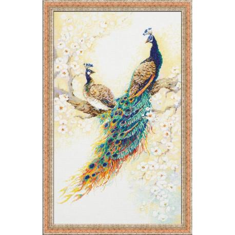 Персидский сад, набор для вышивания крестиком 30х50см мулине хлопок Anchor 27цветов Риолис
