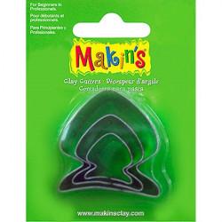 Рыба, набор резцов для полимерной глины, Makins, 3 шт