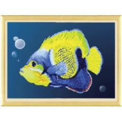 Рыбка, ткань с рисунком для бисера,Чарiвна Мить 30x22 см