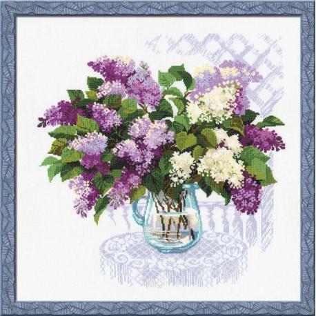 Аромат весны, набор для вышивания крестиком, 45х45см, нитки шерсть Safil 21цвет Риолис