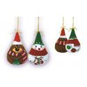 Новогодние игрушки 2 шт. Снеговик и медведь, 8х8см, нитки 11цветов Риолис