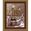 Петербургский мост, набор для вышивания крестиком, 28х36см, нитки шерсть Safil 14цветов Риолис