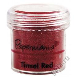 Красные блестки, пудра для эмбоссинга 28,3гр. Papermania