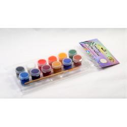 Набор акриловых красок с кисточкой, 12шт*4 мл. Аква-Колор