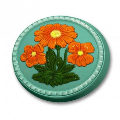 Весенний букет, пластиковая форма для мыла