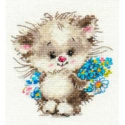 Моей киске, набор для вышивания крестиком, 10х11см, 19цветов Алиса