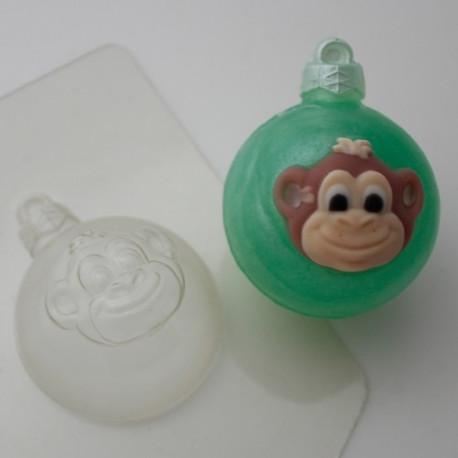 Шар/Голова мартышки, пластиковая форма для мыла