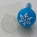Шар/Снежинка2, пластиковая форма XD