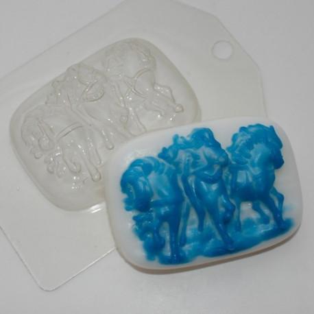 Русская тройка, пластиковая форма для мыла