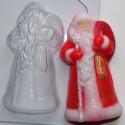 Дед Мороз, пластиковая форма для мыла 75г 100х52х24мм XD