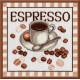 Эспрессо, набор для вышивания крестиком, 20х20см, мулине хлопок 10цветов Овен