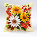 Осенний букет, подушка для вышивания, канва 100% хлопок, нитки 100% акрил 40х40 см
