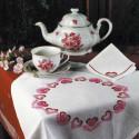 Приглашаем в гости, набор для вышивания крестиком, скатерть 50х50см, салфетки 4шт30х30см 2цвета Овен
