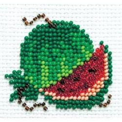 Арбузик, набор для вышивания бисером, 6х5см, 6цветов Кларт