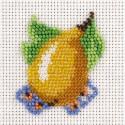 Грушка, набор для вышивания бисером, 5х6см, 8цветов Кларт
