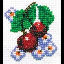Вишенки, набор для вышивания бисером, 5х6см, 8цветов Кларт