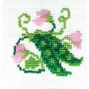 Горошек, набор для вышивания бисером, 5х6см, 5цветов Кларт
