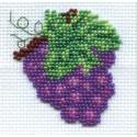 Виноградик, набор для вышивания бисером, 6х6см, 8цветов Кларт