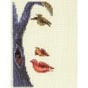 Лицо-птицы, набор для вышивания крестиком, 8х13см, 17цветов Кларт