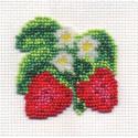 Землянички, набор для вышивания бисером, 6х6см, 10цветов Кларт