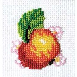 Яблочко, набор для вышивания бисером, 5х6см, 8цветов Кларт