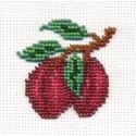 Сливы, набор для вышивания бисером, 6х6см, 9цветов Кларт