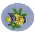 Рыбка-ангел, набор для вышивания бисером, 15х15см, 12цветов Кларт