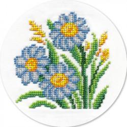 Ромашки, набор для вышивания бисером, 12х12см, 11цветов Кларт