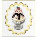 Мороженое, набор для вышивания крестиком и бисером, 15х19см, 2+8цветов Овен