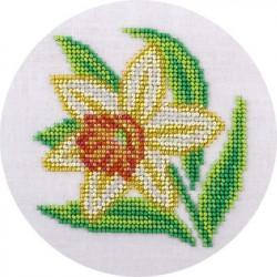 Нарцисс, набор для вышивания бисером, 12х12см, 9цветов Кларт