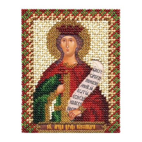 Александра, набор для вышивания бисером 9х11см 14цветов Panna