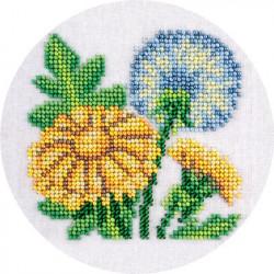 Одуванчики, набор для вышивания бисером, 12х12см, 11цветов Кларт