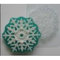 Снежинка, пластиковая форма для мыла XD