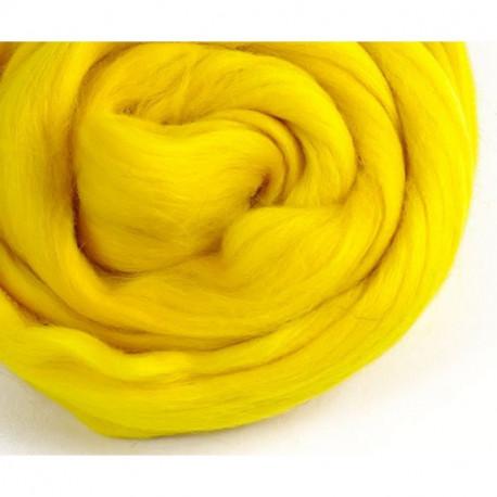 Желтая, 100% Шерсть для валяния РТО (50гр±5гр)