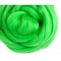 Светло-зеленая, 100% Шерсть для валяния РТО (50гр±5гр)