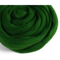 Зеленая, 100% Шерсть для валяния РТО (50гр±5гр)