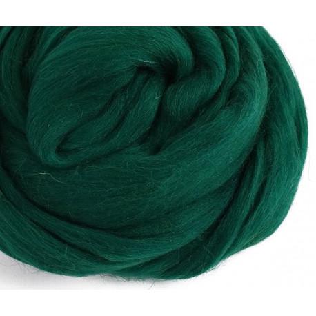 Темно-зеленая, 100% Шерсть для валяния РТО (50гр±5гр)