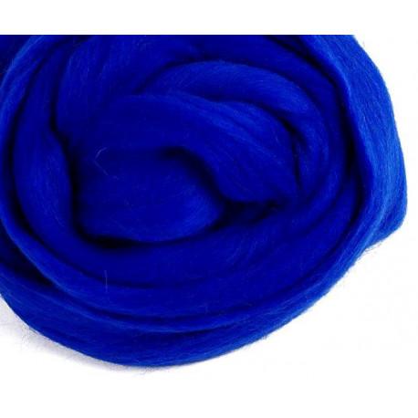 Синяя, 100% Шерсть для валяния РТО (50гр±5гр)