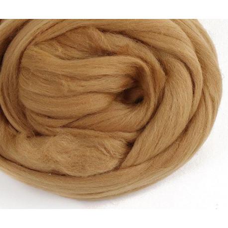 Светло-коричневая, 100% Шерсть для валяния РТО (50гр±5гр)