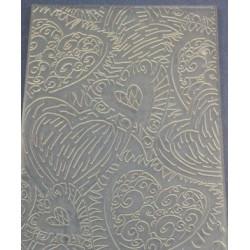 Сердца узор, текстурный лист для мыла
